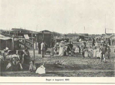 Bagni e bagnanti - Anno 1890