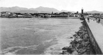 Molo e spiaggia - Anno 1908