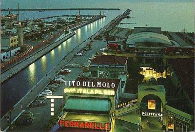 Panoramica sul molo - Anno 1969