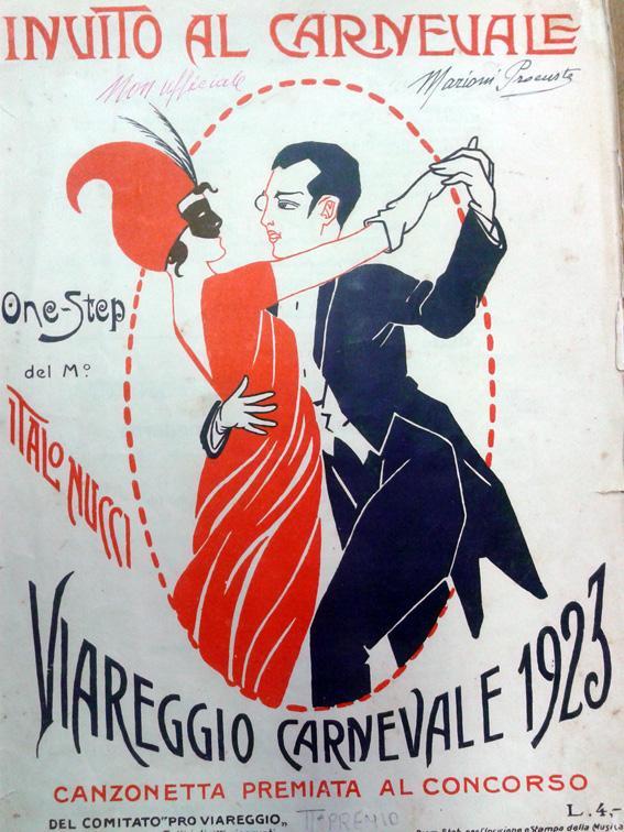 Manifesto ufficiale Carnevale di Viareggio 1923