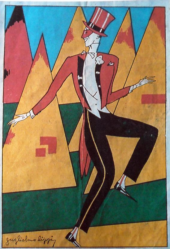 Manifesto ufficiale Carnevale di Viareggio 1925