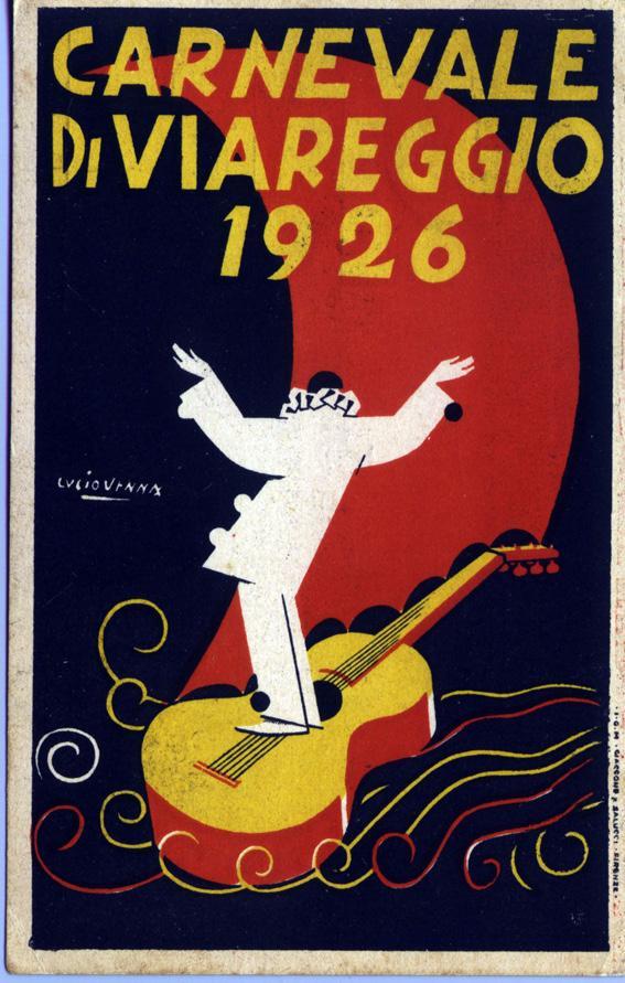 Manifesto ufficiale Carnevale di Viareggio 1926