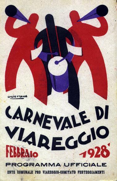 Manifesto ufficiale Carnevale di Viareggio 1928