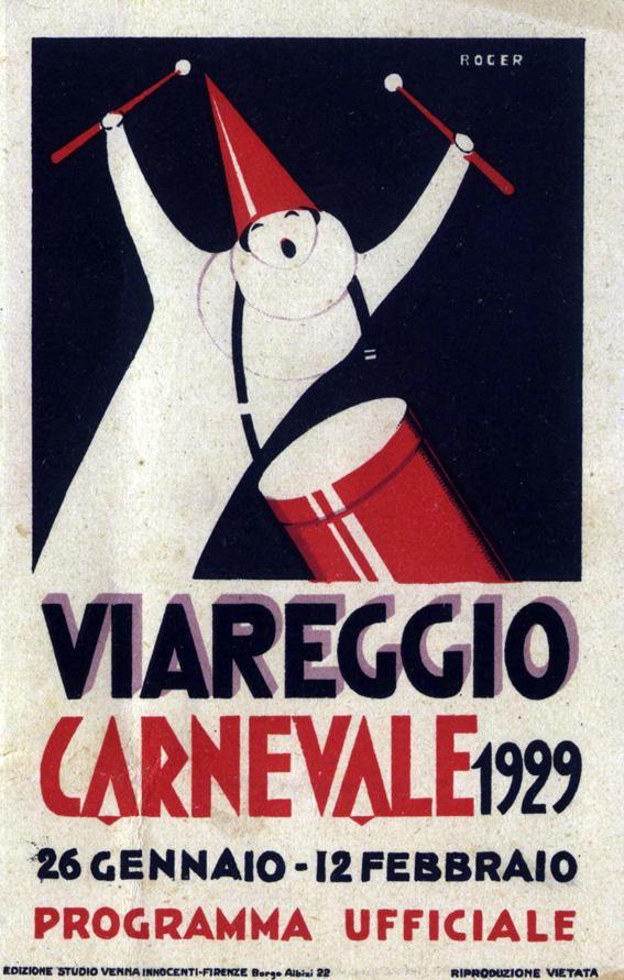 Manifesto ufficiale Carnevale di Viareggio 1929