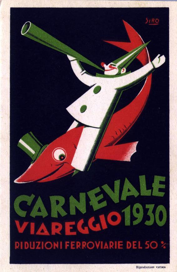 Manifesto ufficiale Carnevale di Viareggio 1930