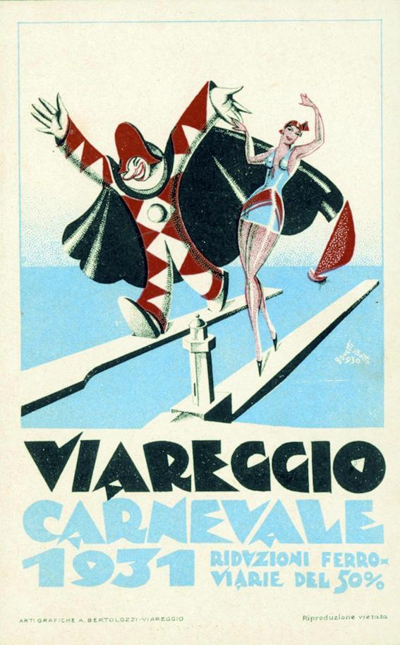Manifesto ufficiale Carnevale di Viareggio 1931