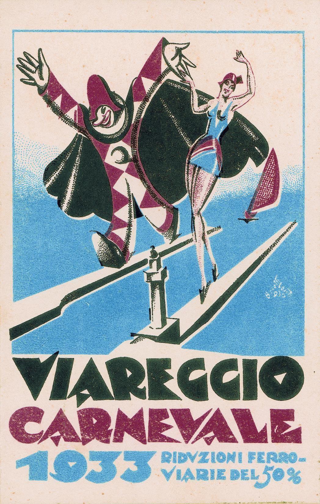 Manifesto ufficiale Carnevale di Viareggio 1933
