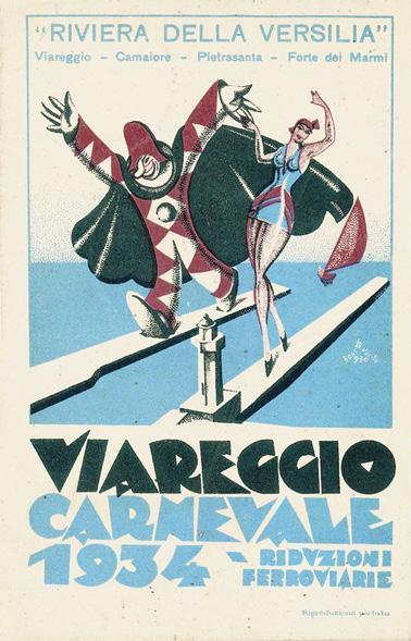 Manifesto ufficiale Carnevale di Viareggio 1934
