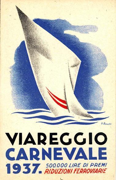 Manifesto ufficiale Carnevale di Viareggio 1937