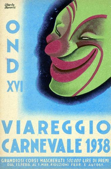 Manifesto ufficiale Carnevale di Viareggio 1938