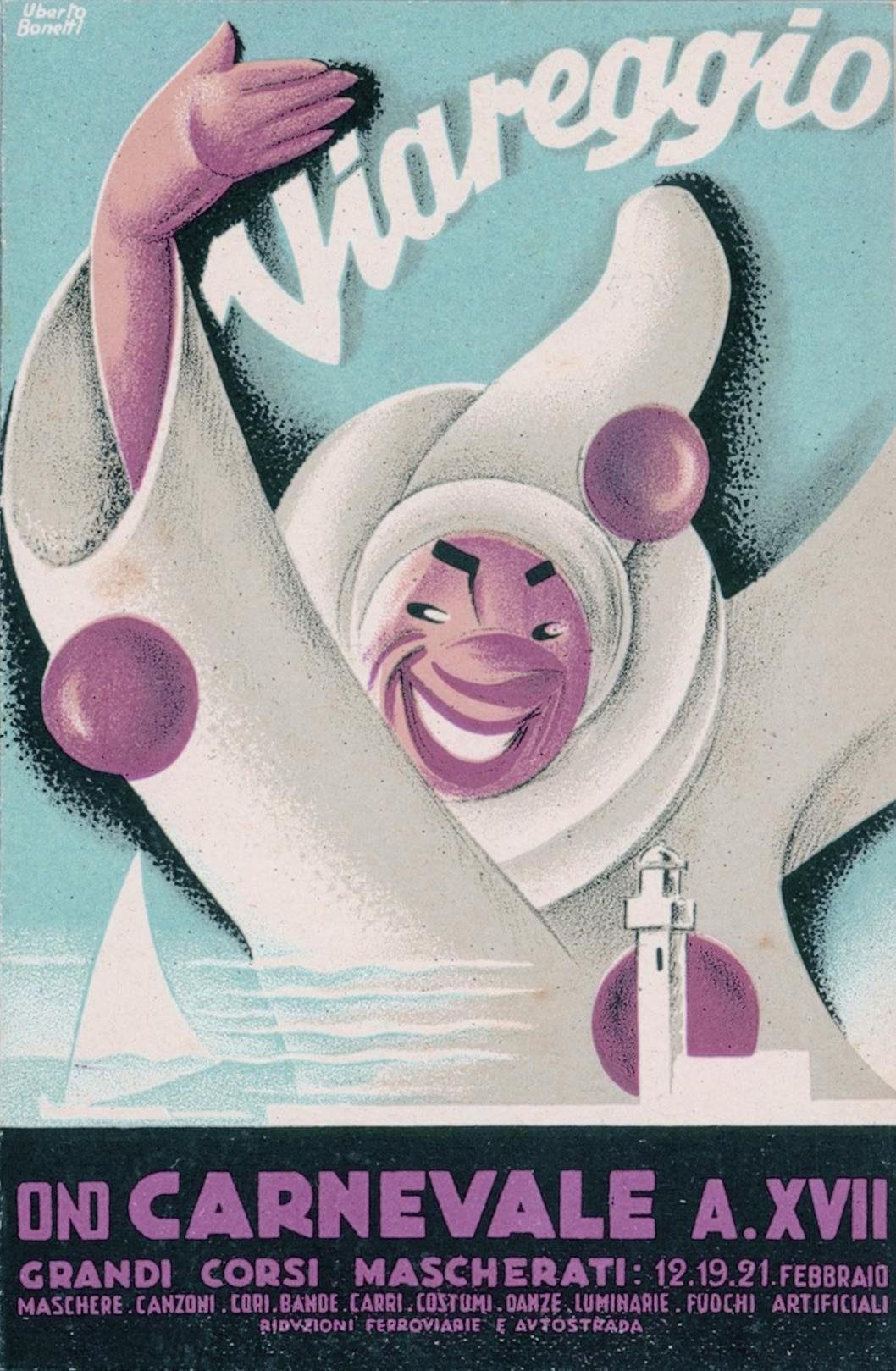Manifesto ufficiale Carnevale di Viareggio 1939