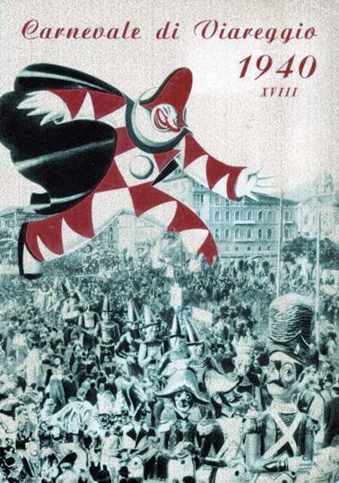 Manifesto ufficiale Carnevale di Viareggio 1940