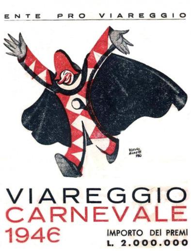 Manifesto ufficiale Carnevale di Viareggio 1946