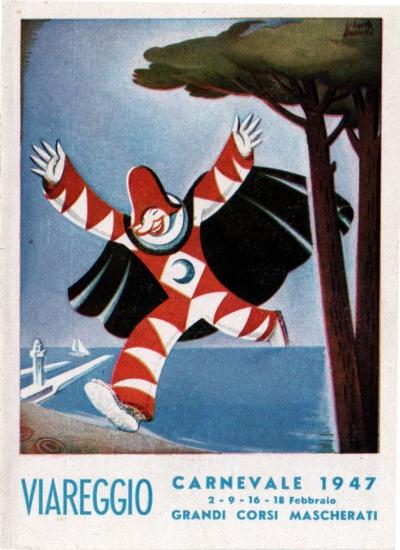 Manifesto ufficiale Carnevale di Viareggio 1947