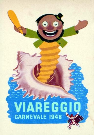 Manifesto ufficiale Carnevale di Viareggio 1948