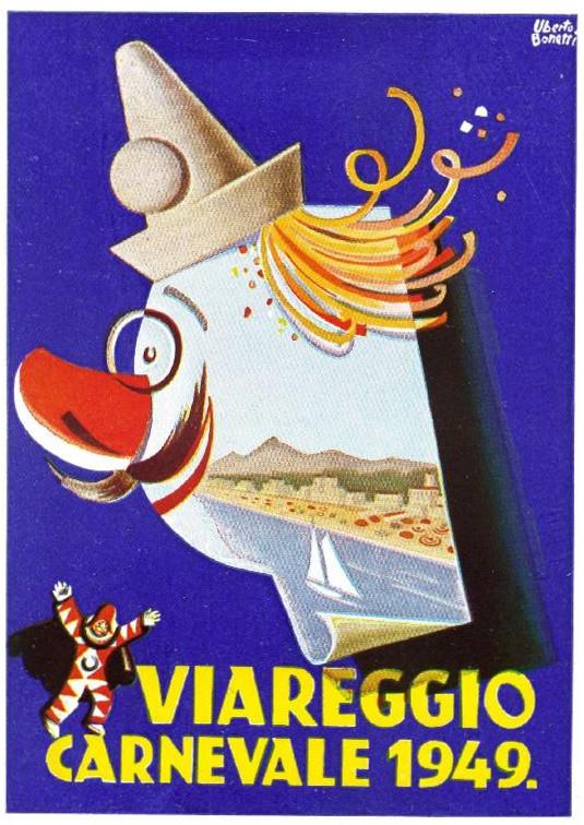 Manifesto ufficiale Carnevale di Viareggio 1949