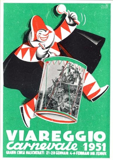 Manifesto ufficiale Carnevale di Viareggio 1951