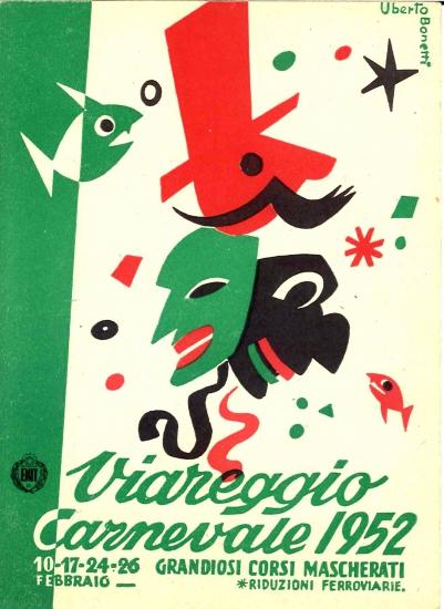 Manifesto ufficiale Carnevale di Viareggio 1952