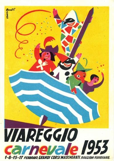Manifesto ufficiale Carnevale di Viareggio 1953