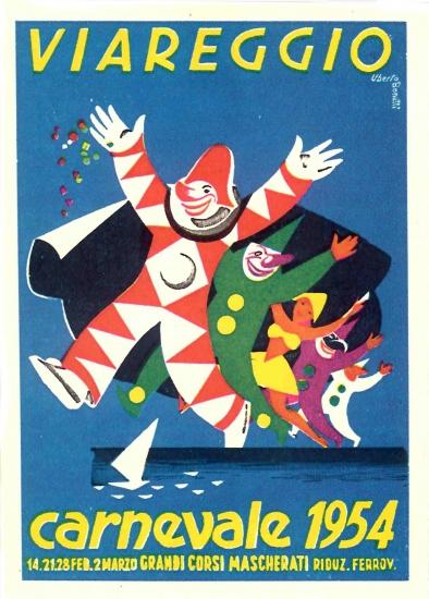 Manifesto ufficiale Carnevale di Viareggio 1954