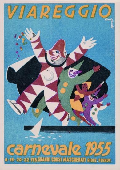 Manifesto ufficiale Carnevale di Viareggio 1955