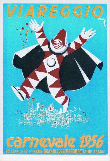 Manifesto ufficiale Carnevale di Viareggio 1956