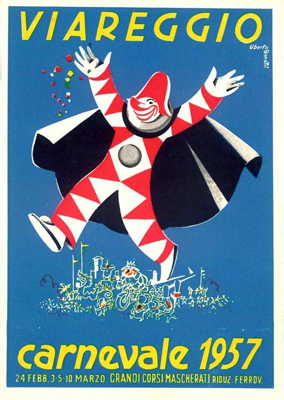 Manifesto ufficiale Carnevale di Viareggio 1957
