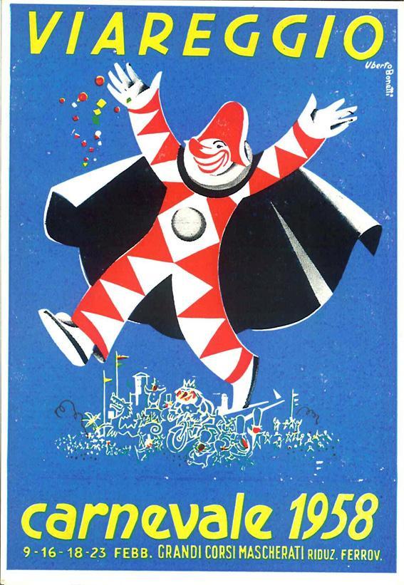 Manifesto ufficiale Carnevale di Viareggio 1958