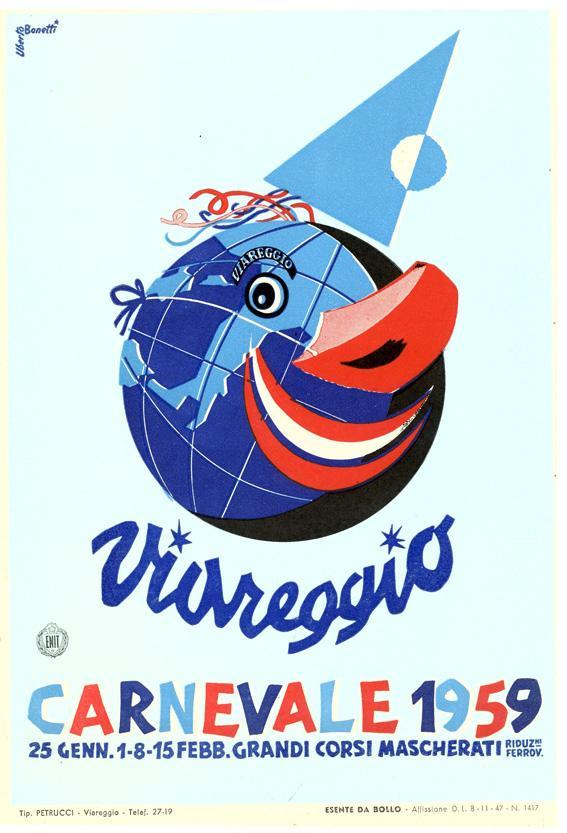 Manifesto ufficiale Carnevale di Viareggio 1959
