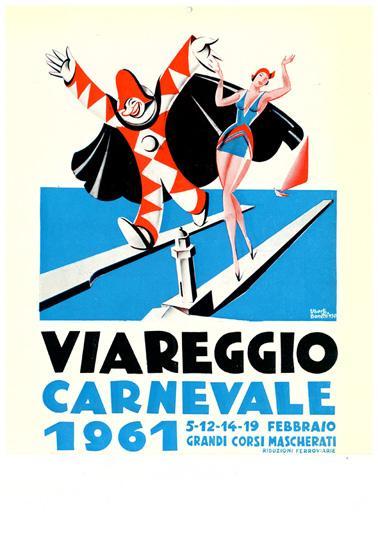 Manifesto ufficiale Carnevale di Viareggio 1961