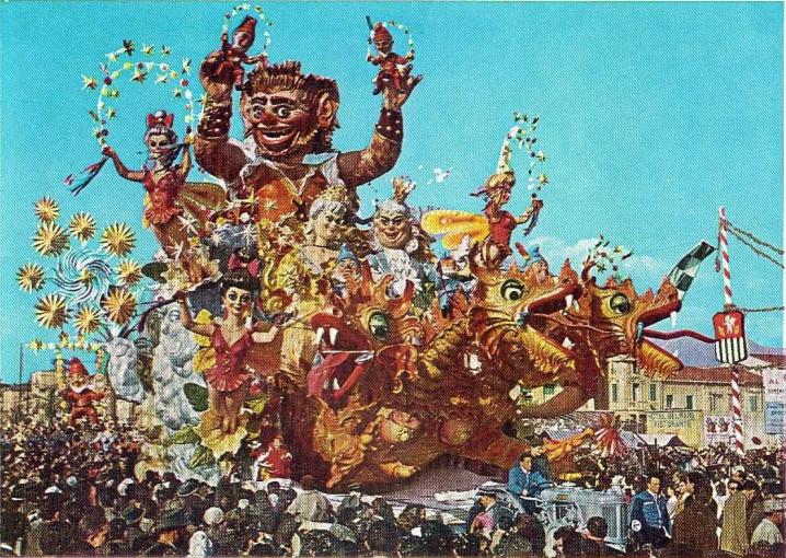 Manifesto ufficiale Carnevale di Viareggio 1962