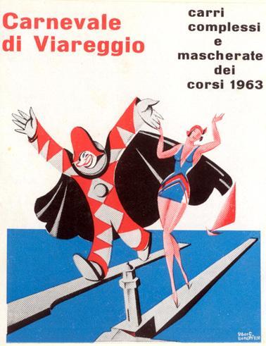 Manifesto ufficiale Carnevale di Viareggio 1963