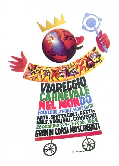Manifesto ufficiale Carnevale di Viareggio 1964