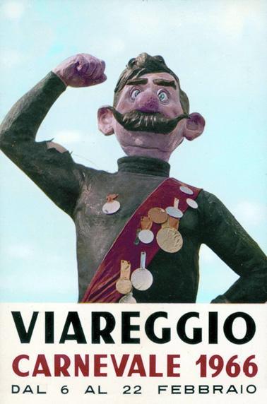 Manifesto ufficiale Carnevale di Viareggio 1966