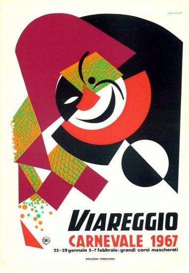 Manifesto ufficiale Carnevale di Viareggio 1967