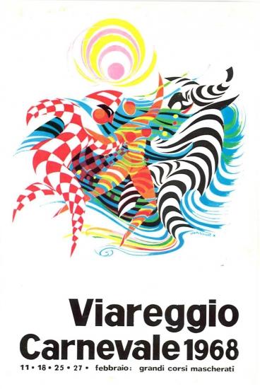 Manifesto ufficiale Carnevale di Viareggio 1968