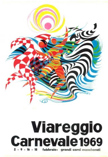 Manifesto ufficiale Carnevale di Viareggio 1969