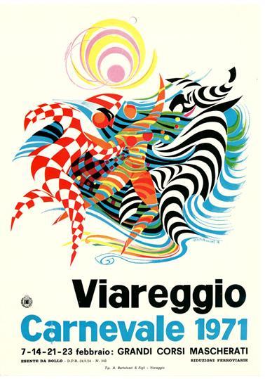 Manifesto ufficiale Carnevale di Viareggio 1971