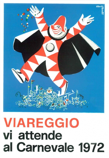 Manifesto ufficiale Carnevale di Viareggio 1972
