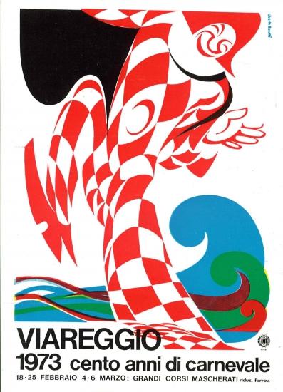 Manifesto ufficiale Carnevale di Viareggio 1973