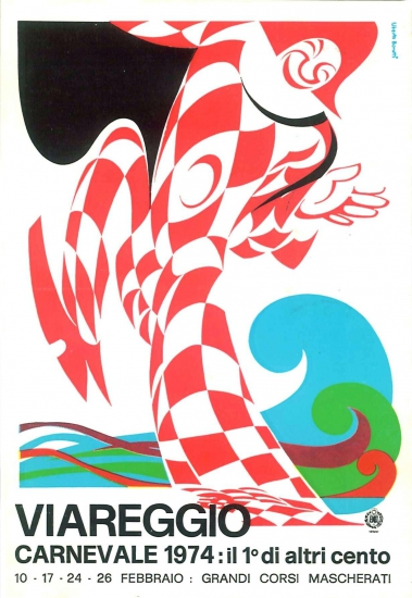 Manifesto ufficiale Carnevale di Viareggio 1974