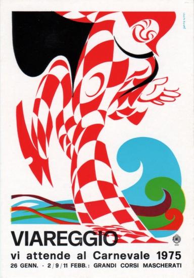 Manifesto ufficiale Carnevale di Viareggio 1975