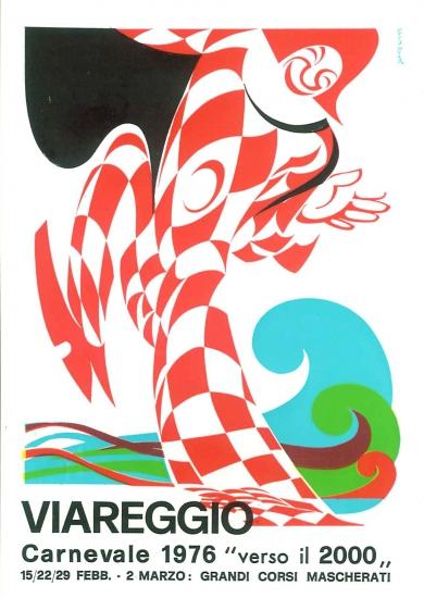 Manifesto ufficiale Carnevale di Viareggio 1976