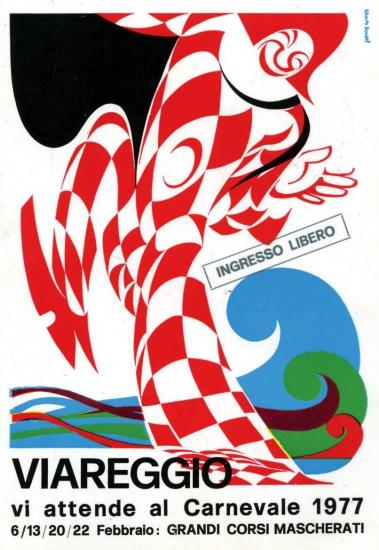 Manifesto ufficiale Carnevale di Viareggio 1977