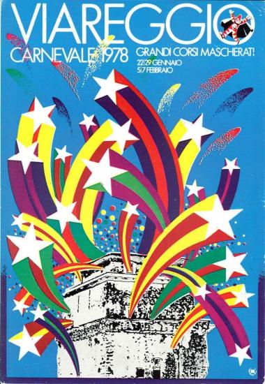 Manifesto ufficiale Carnevale di Viareggio 1978