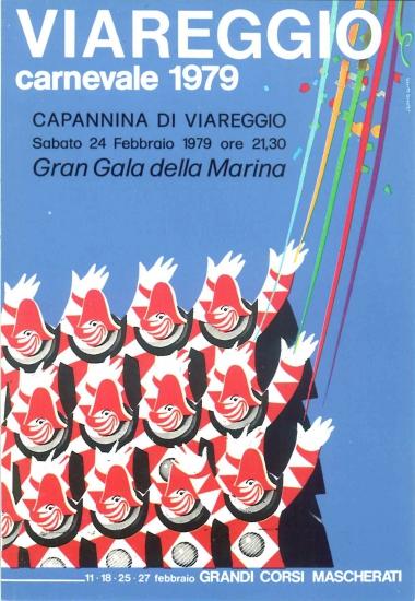 Manifesto ufficiale Carnevale di Viareggio 1979