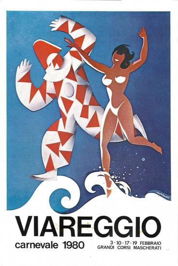 Manifesto ufficiale Carnevale di Viareggio 1980