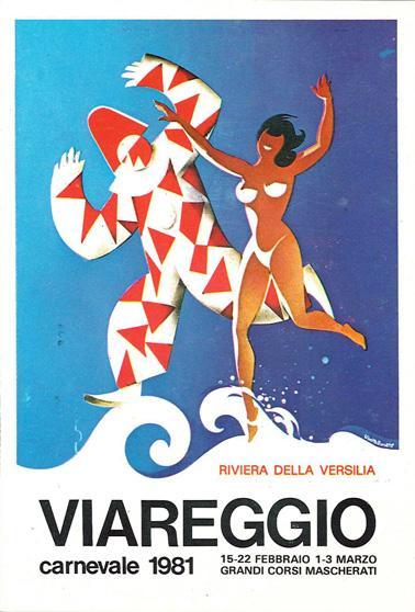 Manifesto ufficiale Carnevale di Viareggio 1981