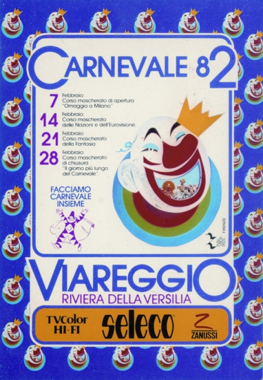 Manifesto ufficiale Carnevale di Viareggio 1982