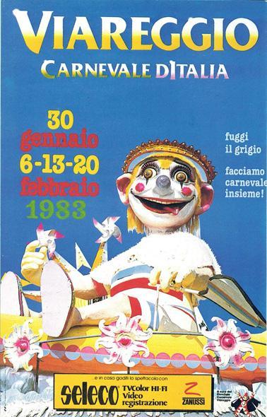 Manifesto ufficiale Carnevale di Viareggio 1983